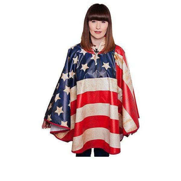 FieldCandy American Flag Unisex Rain Poncho