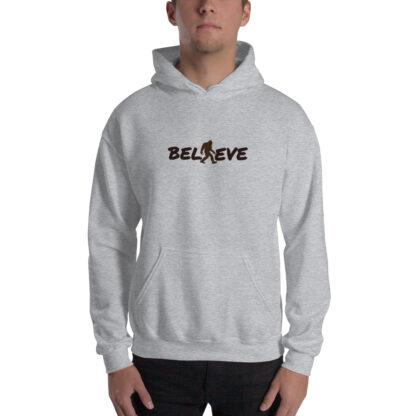 Believe Extra Thick Unisex Hoodie in Grey
