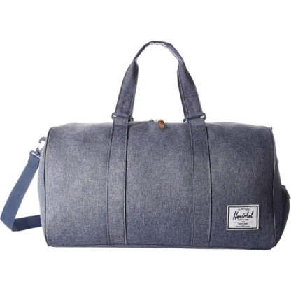 Herschel Novel Duffel Bag in Dark Chambray Crosshatch