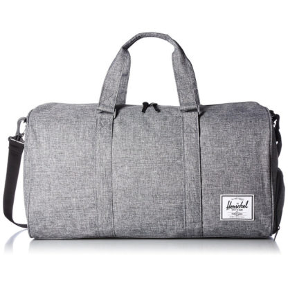 Herschel Novel Duffel Bag in Raven Crosshatch