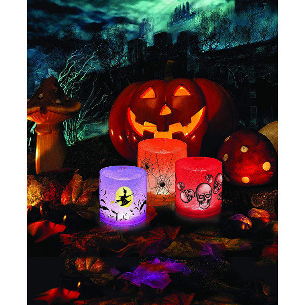 MPOWERD Luci Spooky Spider, Sculls, and Witch Inflatable Solar Lights
