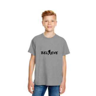 Believe Kids Tshirt in Heather Grey