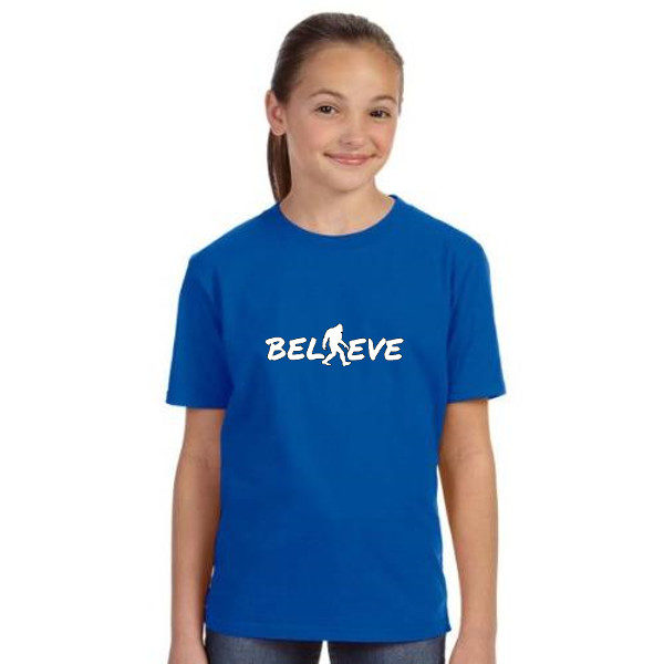 Believe Kids Tshirt in Royal Blue