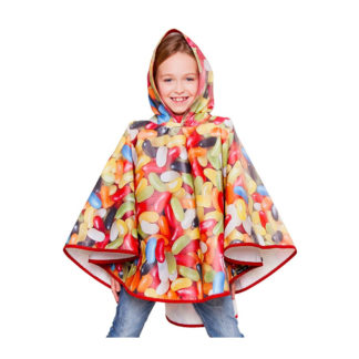 FieldCandy Sweet Dreams Jelly Beans Kids Rain Poncho