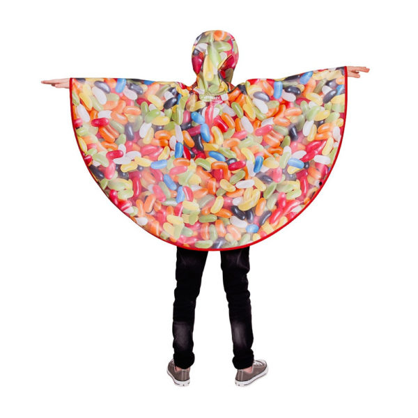 FieldCandy Sweet Dreams Jelly Beans Kids Rain Poncho back view
