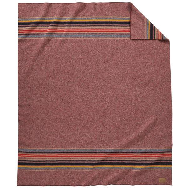 Pendleton Wool Camp Blanket in Red Mountain