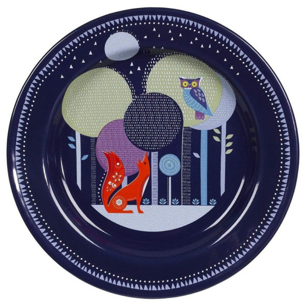Wild & Wolf Folklore Enamel Blue Night Design Dinner Plate