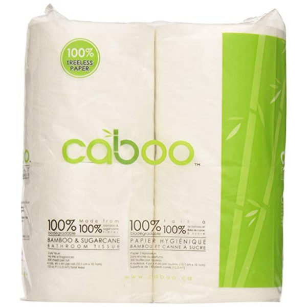 Caboo Tree-Free Bamboo RV Toilet Paper 4 rolls