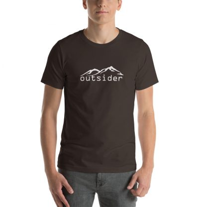 Outsider Unisex Tshirt in Brown