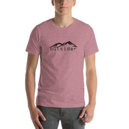 Outsider Unisex Tshirt in Heather Orchid