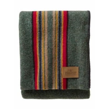 Pendleton Yakima Camp Wool Throw Blanket in Green