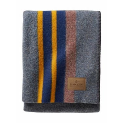 Pendleton Yakima Camp Wool Throw Blanket in Lake