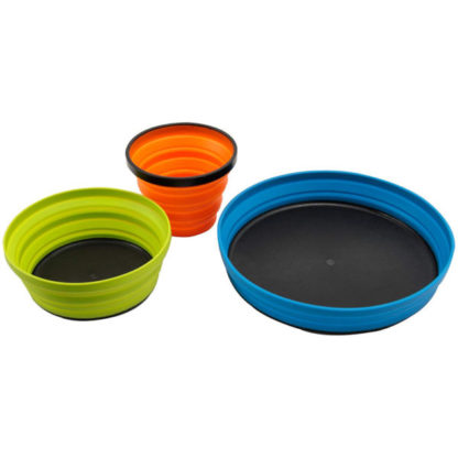 Sea to Summit 3-Piece X Collapsible Bowl, Mug, and Plate Set