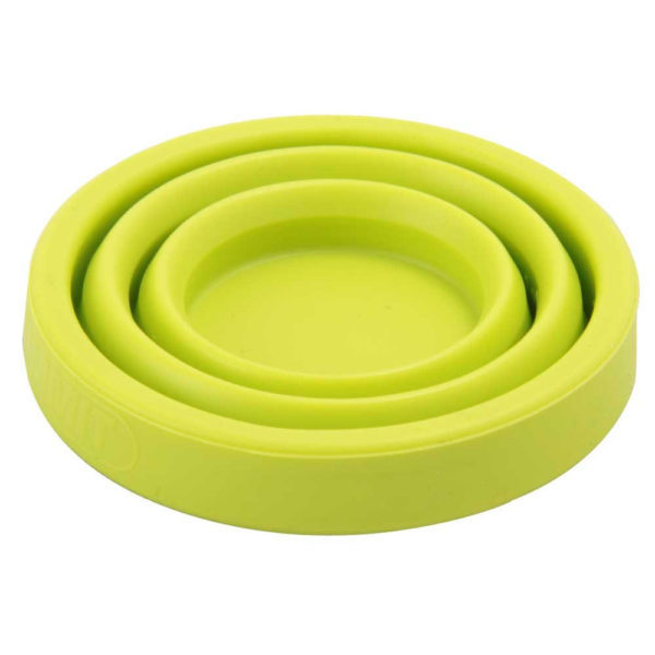Sea to Summit X-Shot Glass and Espresso Cup in Lime Green collapsed
