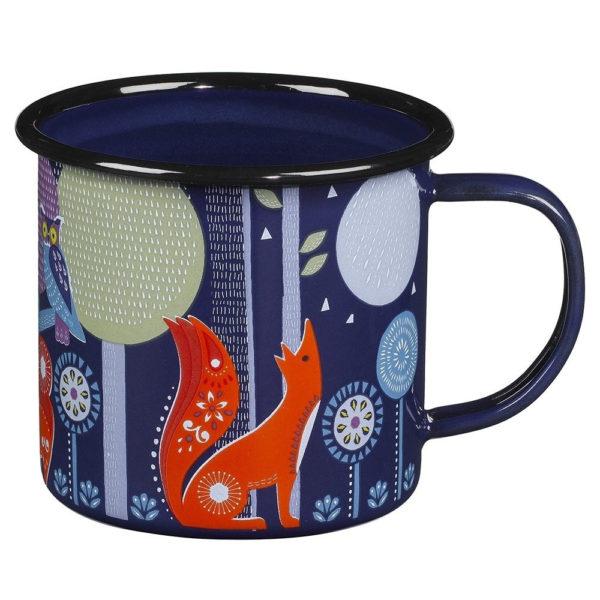Wild & Wolf Folklore Enamel Blue Night Design Coffee Mug