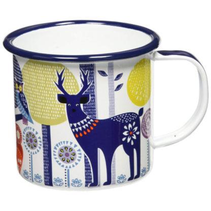 Wild & Wolf Folklore Enamel White Day Design Coffee Mug