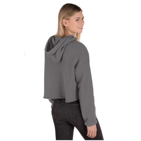 Fleece Crop Hoodie back view