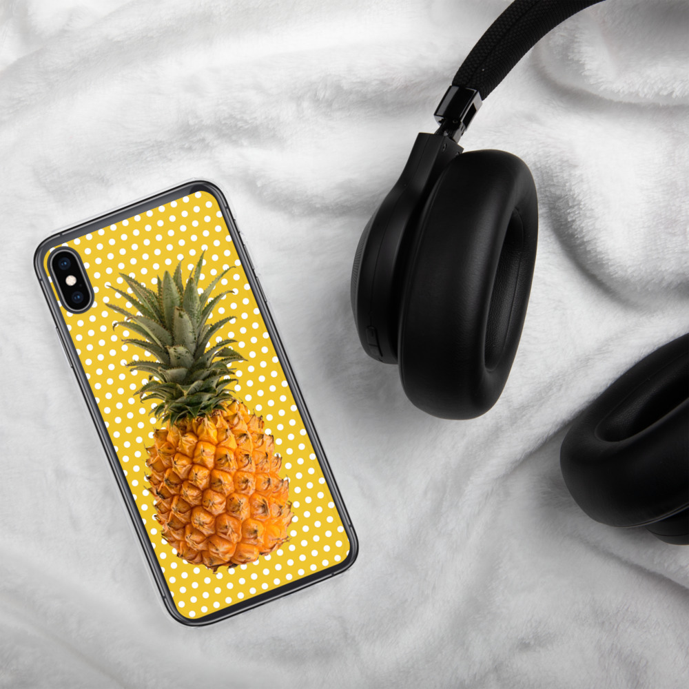 Pineapple and Polka Dots Phone Case