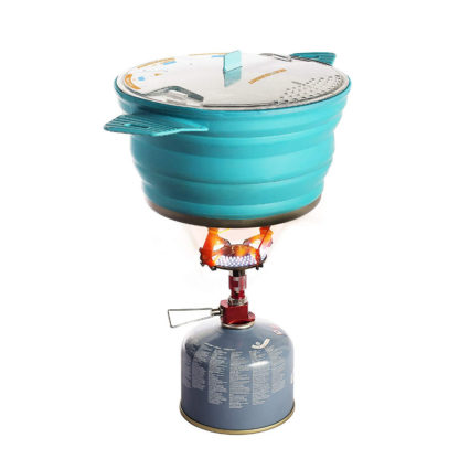 Sea to Summit Collapsible X-Pot on camp stove