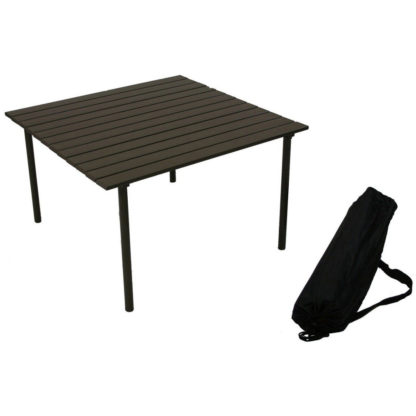 Table in a Bag Low Aluminum Portable Table in Brown