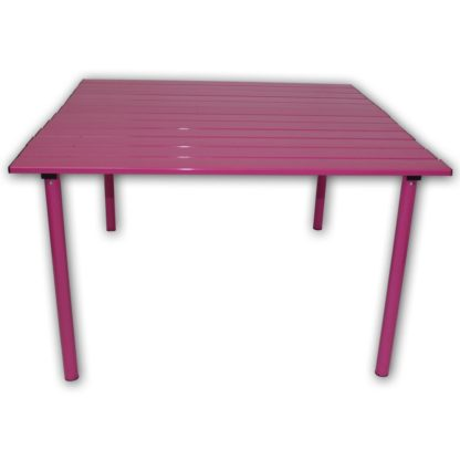 Table in a Bag Low Aluminum Portable Table in Fuschia