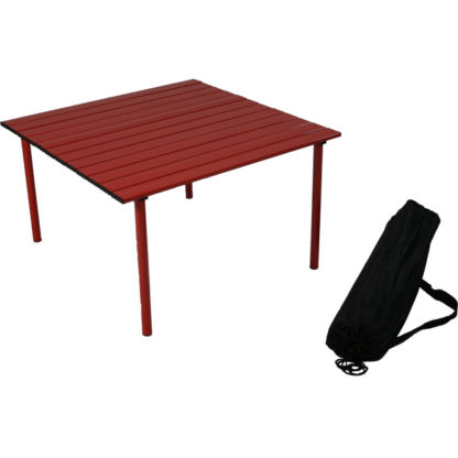 Table in a Bag Low Aluminum Portable Table in Red