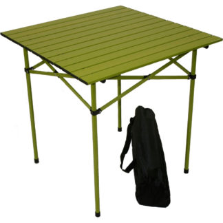 Table in a Bag Tall Aluminum Portable Table in Green