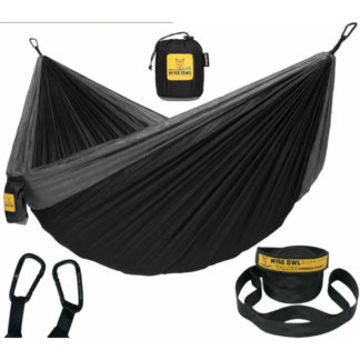 Wise Owl Outfitters Hammock in Black and Grey
