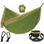 Wise Owl Outfitters Hammock in Olive Green and Khaki