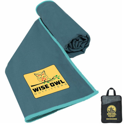 Wise Owl Outfitters Microfiber Camping Towel in Marine Blue