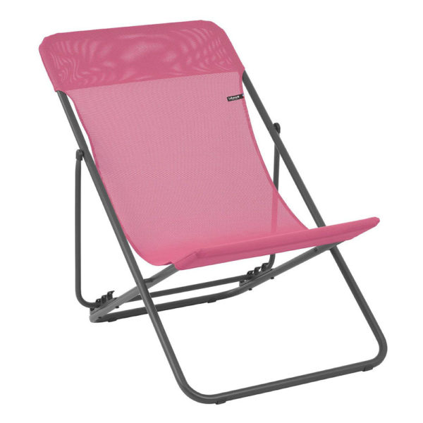 Lafuma Maxi Transat Folding Sling Chair in Begonia