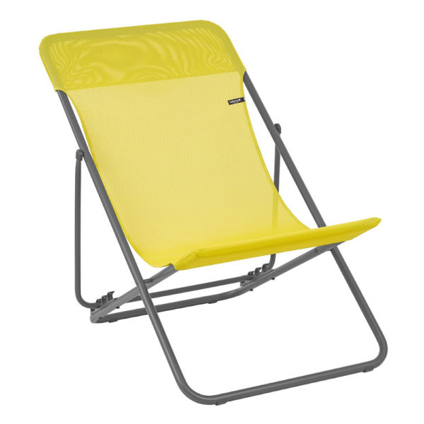Lafuma Maxi Transat Folding Sling Chair in Citrus