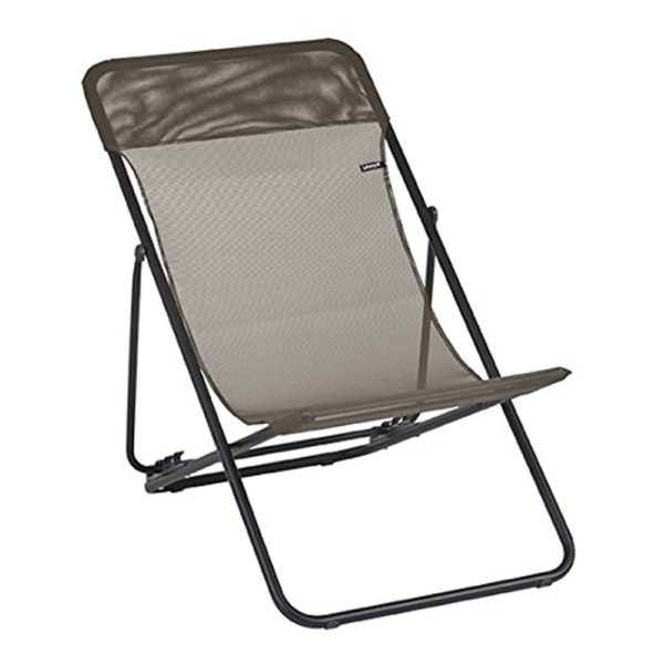 Lafuma Maxi Transat Folding Sling Chair in Graphite