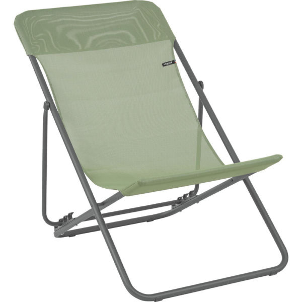 Lafuma Maxi Transat Folding Sling Chair in Moss