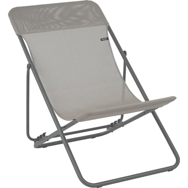 Lafuma Maxi Transat Folding Sling Chair in Terre