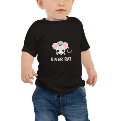River Rat Baby Short Sleeve Tshirt in Black