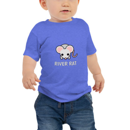 River Rat Baby Short Sleeve Tshirt in Heather Blue