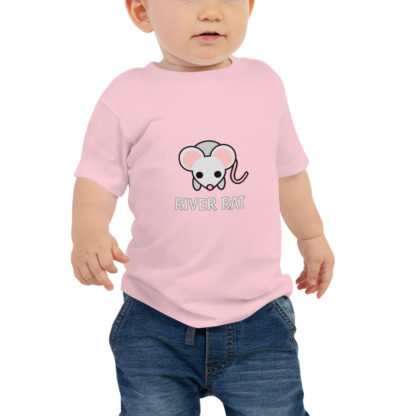 River Rat Baby Short Sleeve Tshirt in Pink