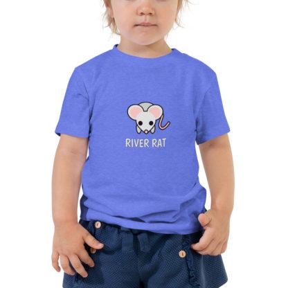 River Rat Toddler Tshirt in Heather Blue