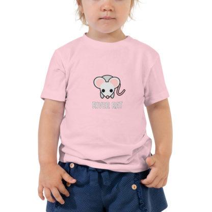 River Rat Toddler Tshirt in Pink