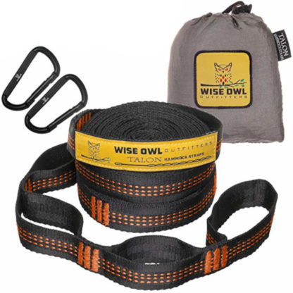 Wise Owl Outfitters XL Hammock Straps in Orange