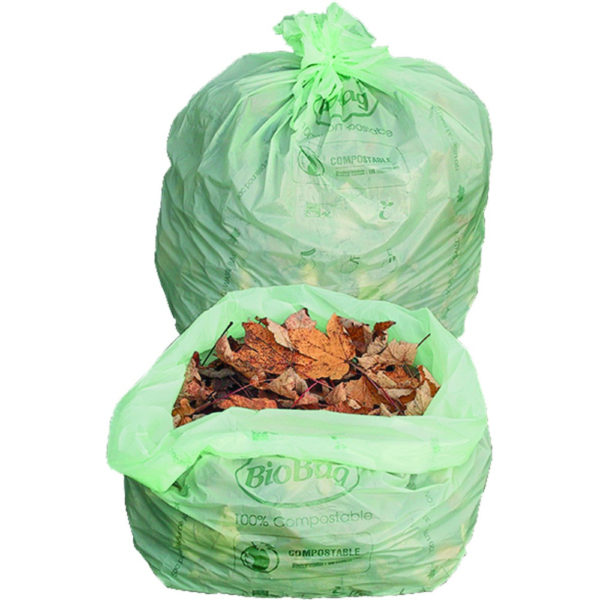 BioBag 33-Gallon Biodegradable Lawn and Leaf Bags bags