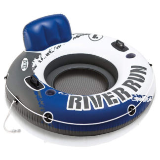 Intex River Run I Inflatable Float Lounger in blue