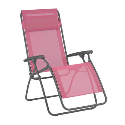 Lafuma R Clip Lounge Chair in Begonia Pink