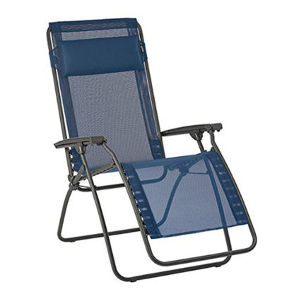Lafuma R Clip Lounge Chair in Ocean Blue