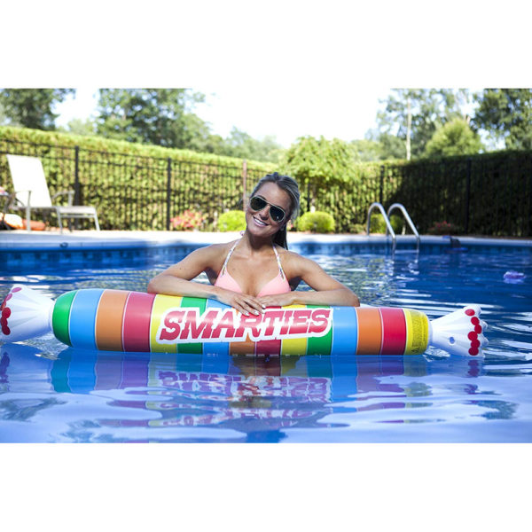 Smarties Noodle Pool Float Lounger in pool