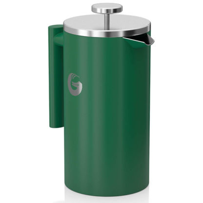 Coffee Gator Insulated Stainless Steel French Press in Green