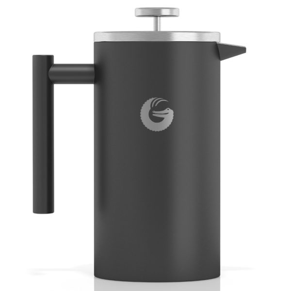 Coffee Gator Insulated Stainless Steel French Press in Grey