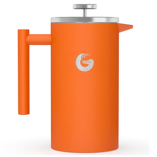 Coffee Gator Insulated Stainless Steel French Press in Orange
