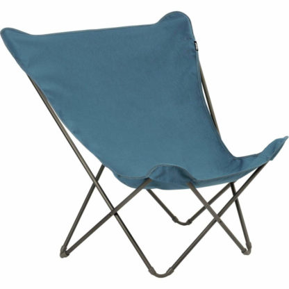 Lafuma Pop Up XL Butterfly Lounge Chair in Blue Delft